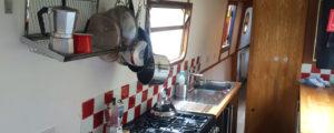 Fully stocked Narrow Escape kitchen