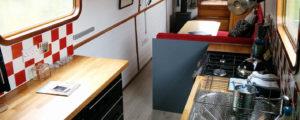 The kitchen inside the Narrow Escape