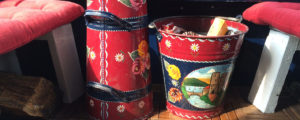 Traditional canal painted buckets