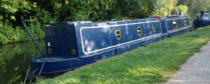 Side view of the Narrow Escape boat