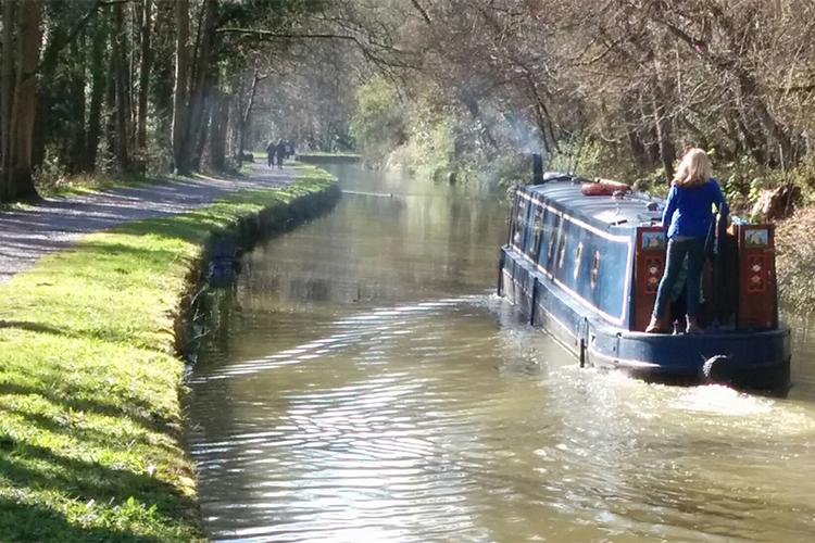 Sailing down the canal