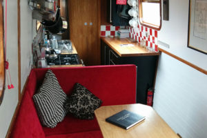 Narrow Escape lounge and kitchen