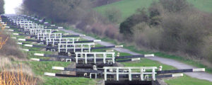Canal locks in Devizes