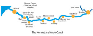 Map of the Kennet and Avon canal