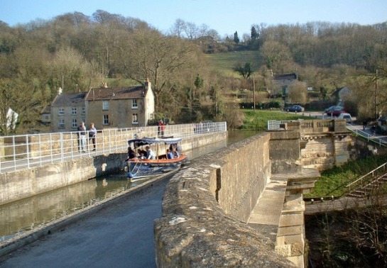 Boats on Avoncliff Aqueduct