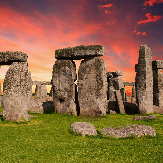 Stonehenge by sunset