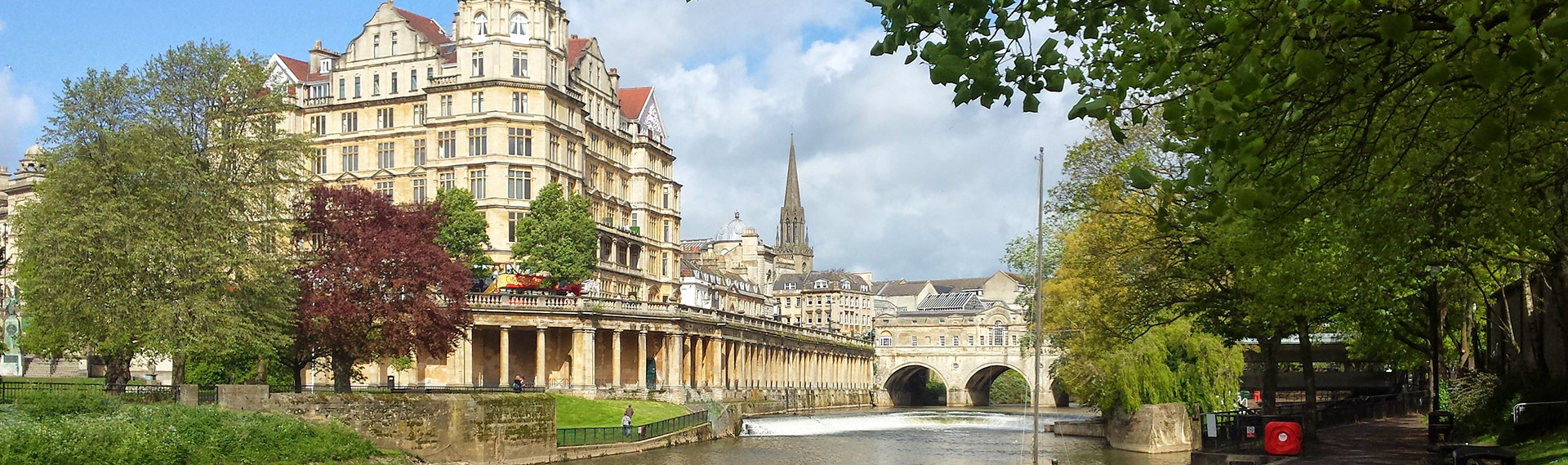 View of Pulteney Bridge in Bath