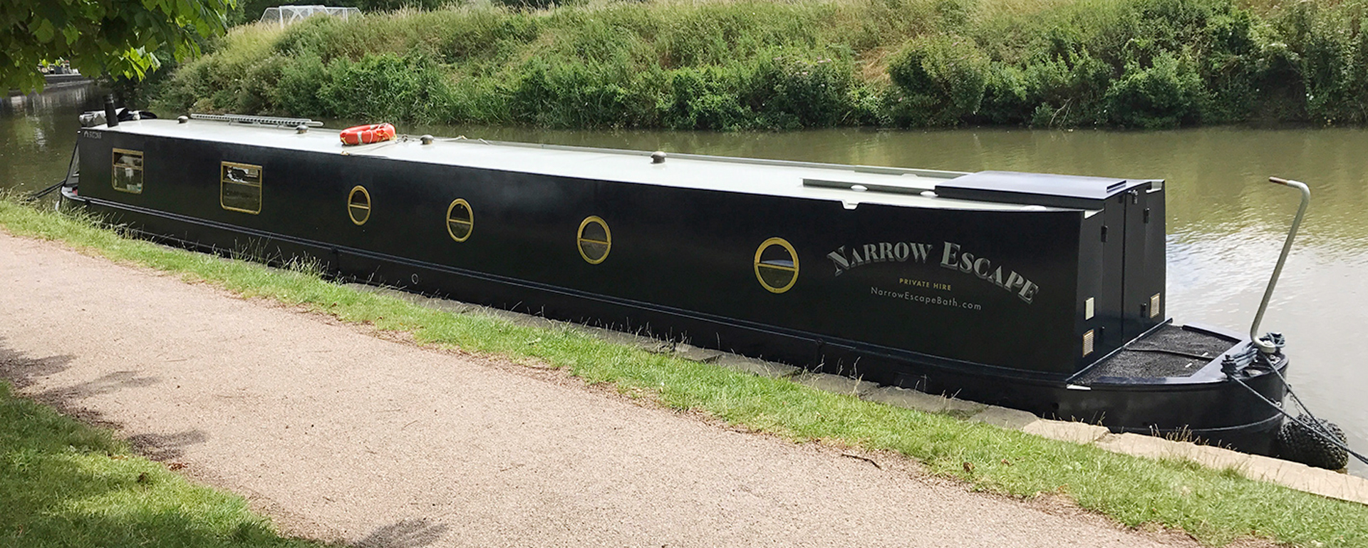 Narrow Escape moored near Bath